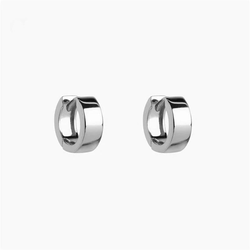 925 Sterling Silver Polished Hoops