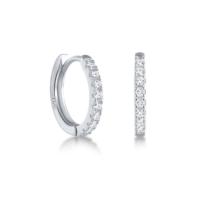925 Sterling Silver Classic Hoops