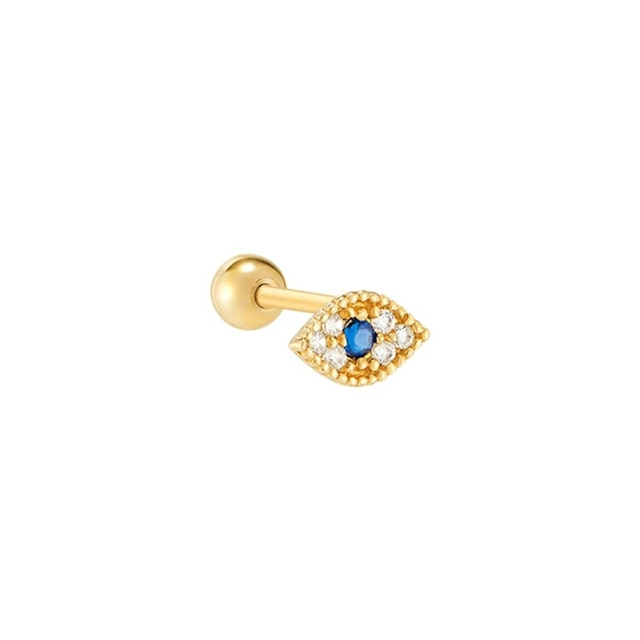 925 Sterling Silver Evil Eye Piercing