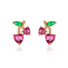 925 Sterling Silver Cherry Earrings