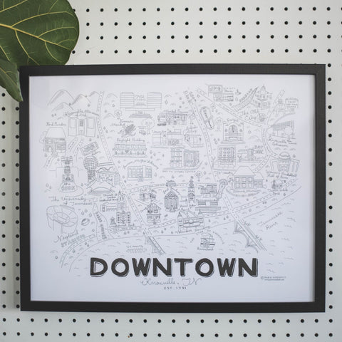 Downtown Knoxville - Print - 16x20""