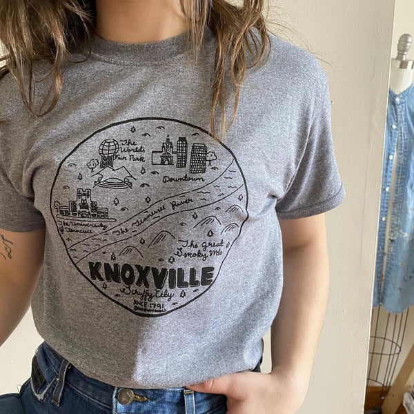 Knoxville Map T-Shirt