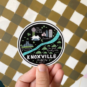 Knoxville Map Sticker (Small)