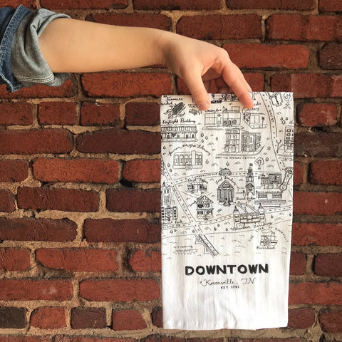 Downtown Knoxville Tea Towel