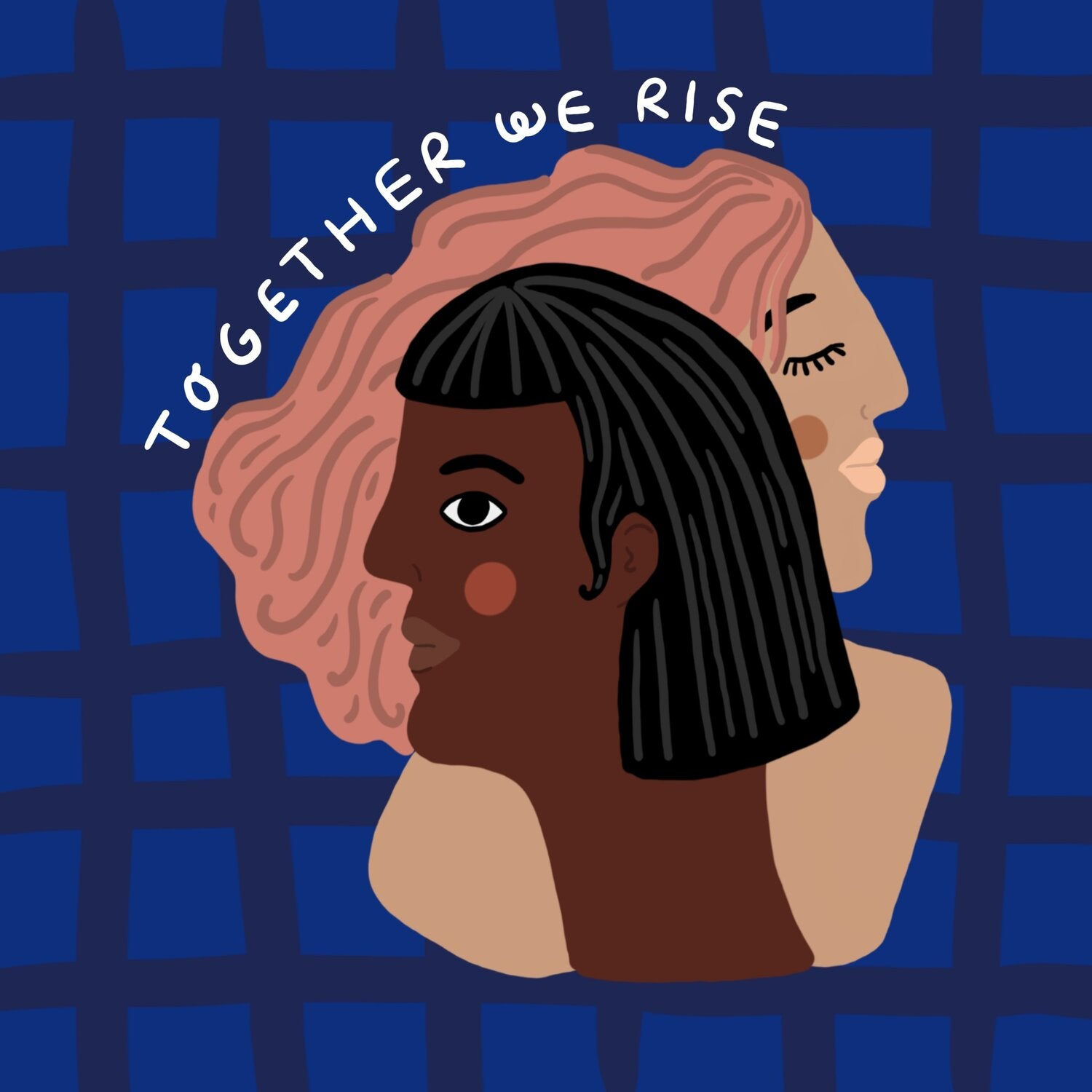 Together We Rise - Print - 8x8""