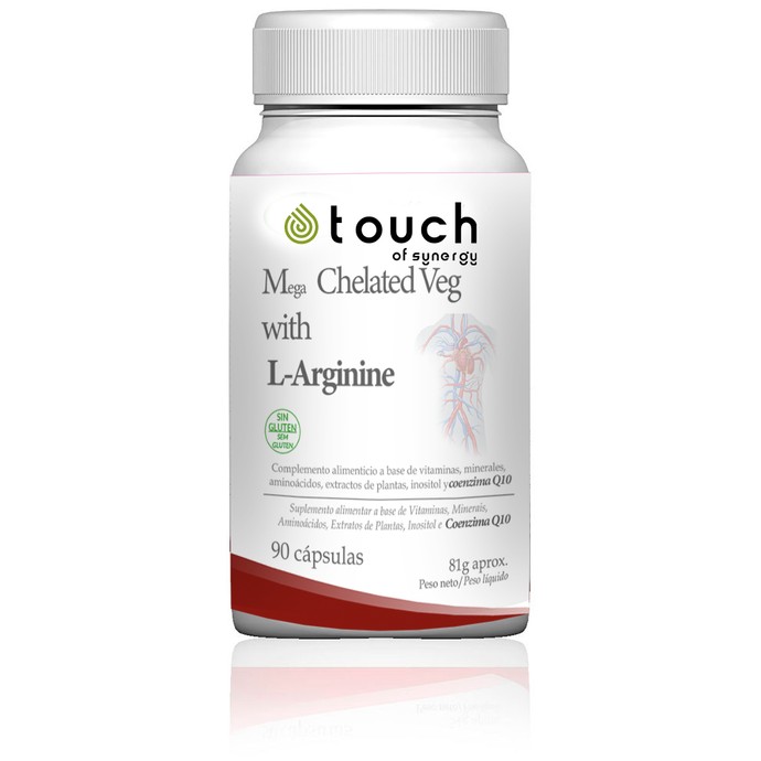 Mega Chelated Veg with L-Arginine  - 90 cápsulas -