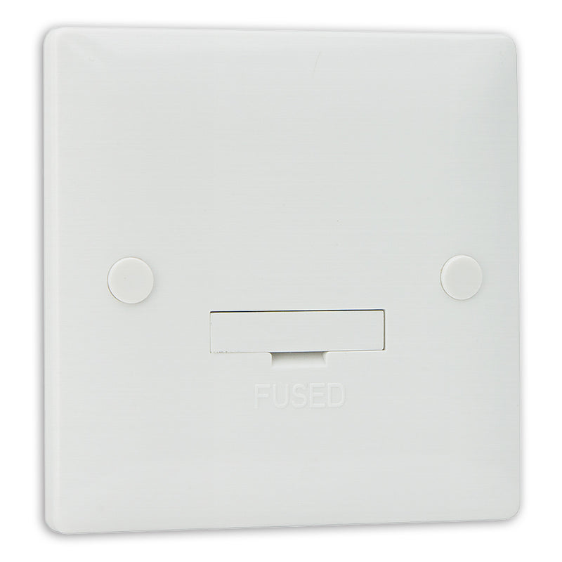 Slimline White Unswitched Connection Unit