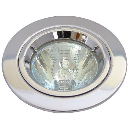 230v GU10 Fixed Twist & Lock Downlight - Polished Chrome