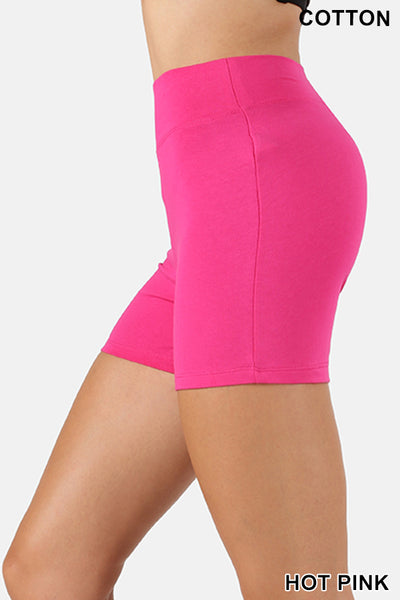 ZENANA Premium Cotton Short Pants With Wide Waist Band