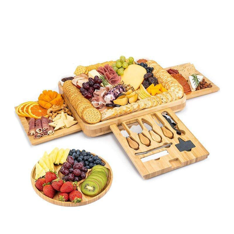 Bamboo Cheese Board And Cutlery Set