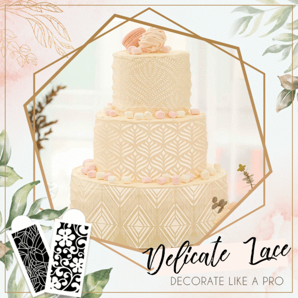 Cake Lace Decoration Stencil (Set of 10)