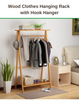 Clothes Hanging Rack with Hook Hanger