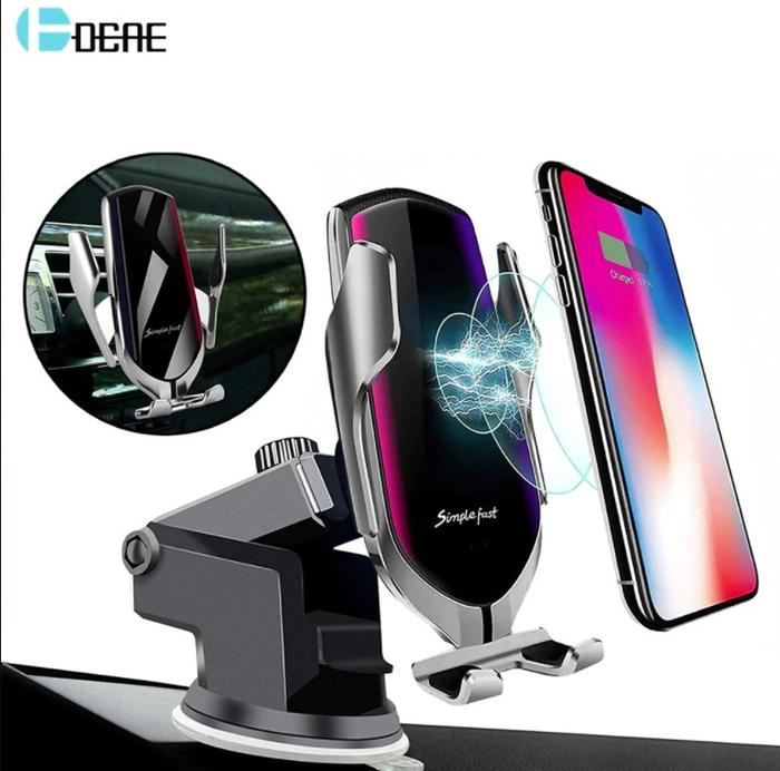 1 Auto-Clamping Car Phone Charger