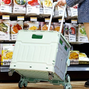 GROCERY CART HOUSEHOLD PORTABLE COURIER CART FOLDING SHOPPING CART