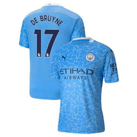 Manchester City 2020/21 Kevin De Bruyne Home Jersey