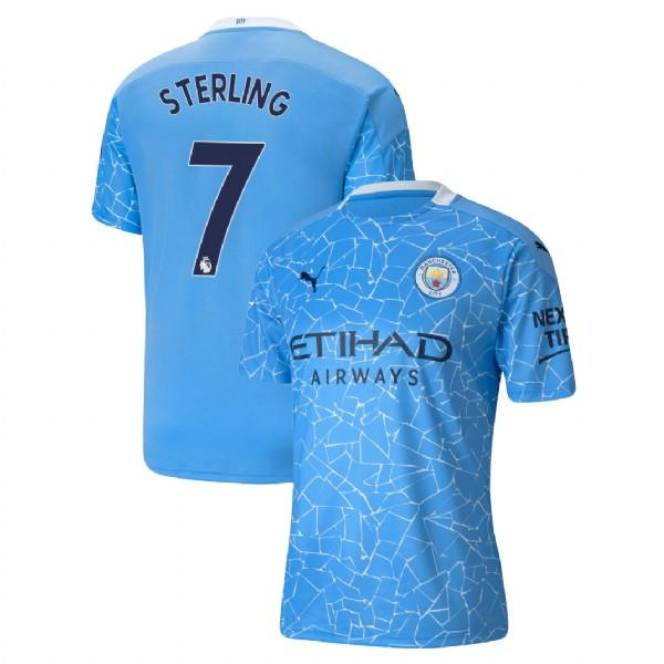 Manchester City 2020/21 Raheem Sterling Home Jersey