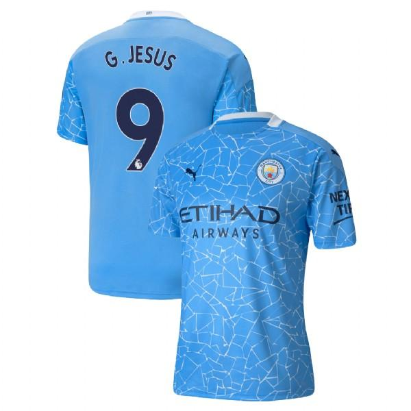 Manchester City 2020/21 Gabriel Jesus Home Jersey