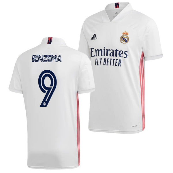 Real Madrid 2020/21 Karim Benzema Home Jersey
