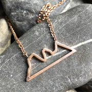 Stainless steel Open Outline Three Sisters Necklace -  Wonderland -  marketsquare-collective.myshopify.com