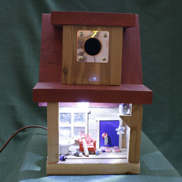 Home Run - Solar Lit Birdhome -  Wanderings in a Garden -  marketsquare-collective.myshopify.com