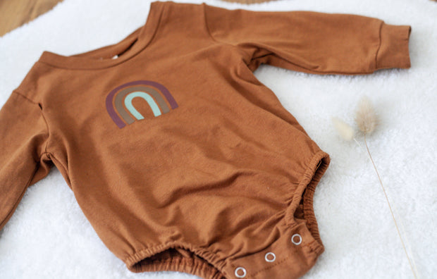 Neutral Rainbow Romper -  Gooseberry Clothing -  marketsquare-collective.myshopify.com