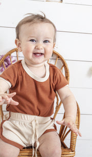 Neutral Infant Onesie Shorts Set