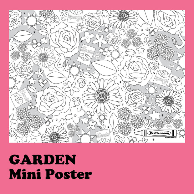 Garden - Mini Poster -  Crafternoon -  marketsquare-collective.myshopify.com