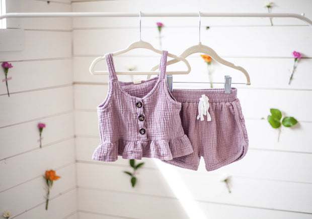 Cropped Tank Short Toddler Set
