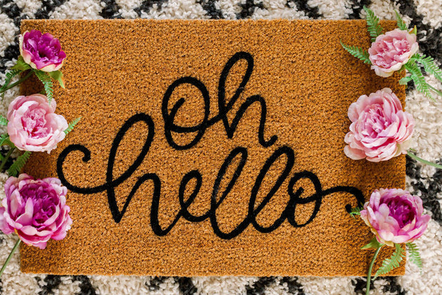 Oh Hello -  Words To Wipe Your Feet On -  marketsquare-collective.myshopify.com
