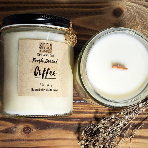 Fresh Brewed Coffee Natural Soy Candles -  FH Charm Candles -  marketsquare-collective.myshopify.com
