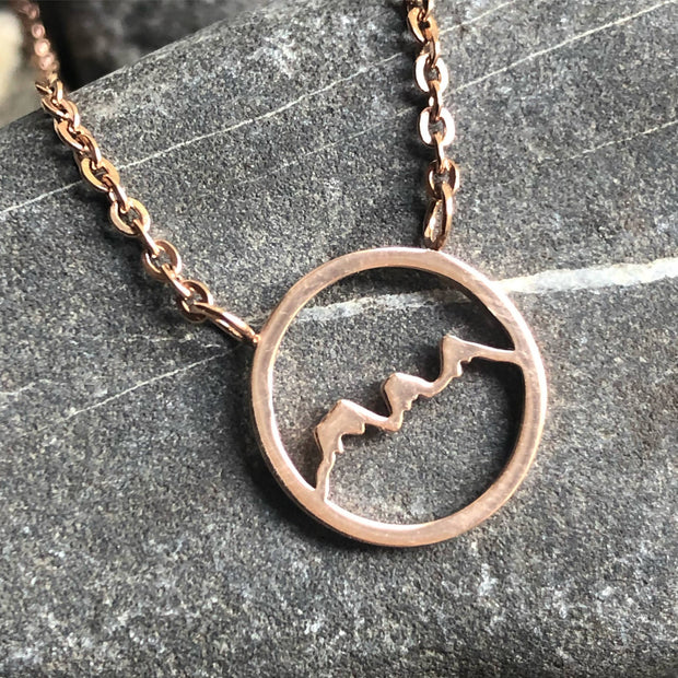 Stainless steel round Three Sisters Necklace -  Wonderland -  marketsquare-collective.myshopify.com