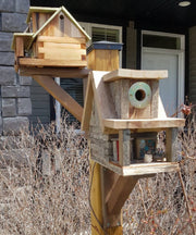Cedar Birdhouse Bracket -  Wanderings in a Garden -  marketsquare-collective.myshopify.com
