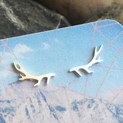 Stainless Steel Antler Studs -  Wonderland -  marketsquare-collective.myshopify.com