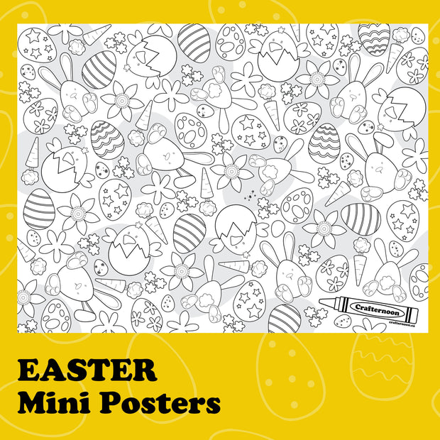 Easter Mini Colouring Poster -  Crafternoon -  marketsquare-collective.myshopify.com