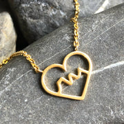 Stainless steel Heart Three Sisters Necklace -  Wonderland -  marketsquare-collective.myshopify.com