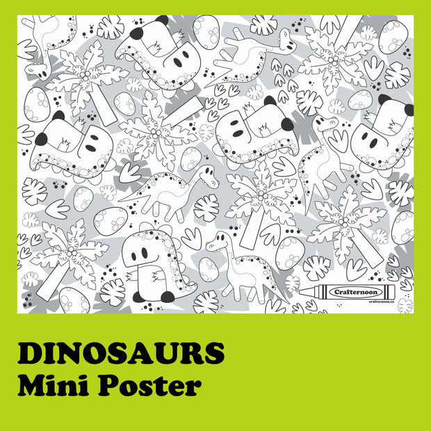 Dinosaurs - Mini Poster -  Crafternoon -  marketsquare-collective.myshopify.com