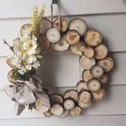 Rustic Wooden Wreath -  Barnwood Burlap & Bows -  marketsquare-collective.myshopify.com