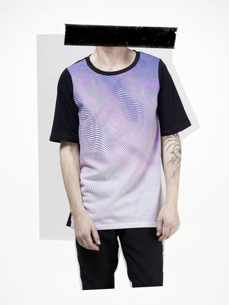 visual rehab black sleeves t-shirt