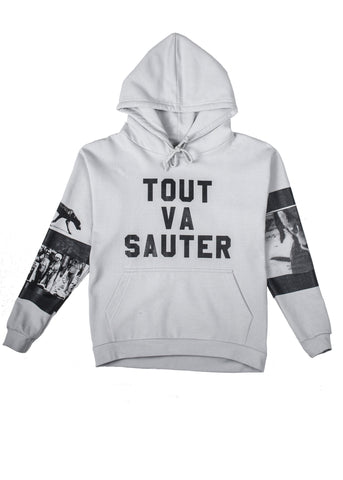 TOUT VA SAUTER  hoodie by Polystyren AW18