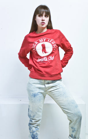 LICK MY LEGS - naughty club - red long sleeves sweatshirt