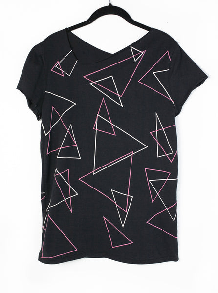 NEW ROSE -  all-over print black t-shirt