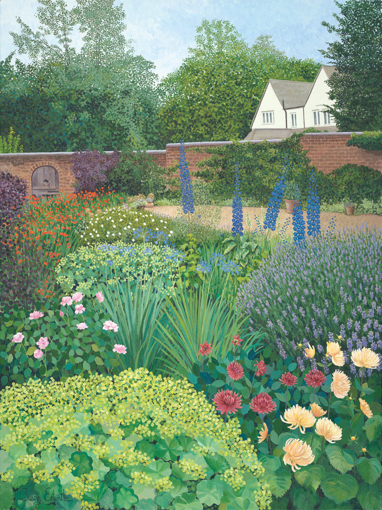 Walled Kitchen Gardens Garden Commissions Painted By Susan Entwistle Art Susan Entwistle