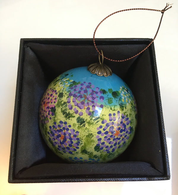 Hand painted glass bauble