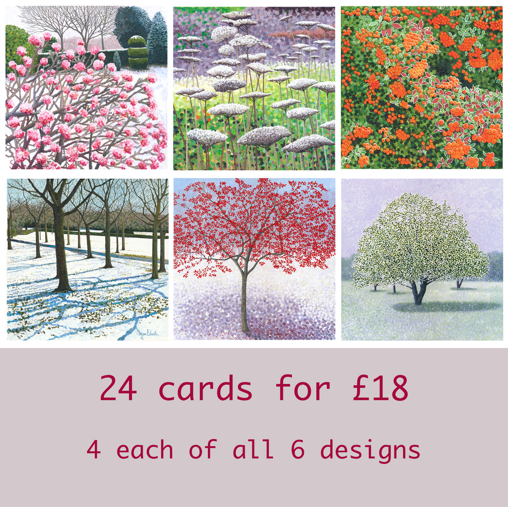 24 pack of foiled & winter tree cards