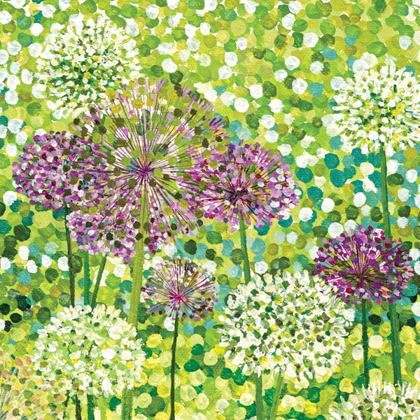 Allium Flowers card