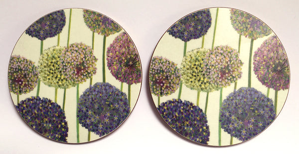 Allium coaster pack of 4 or 6