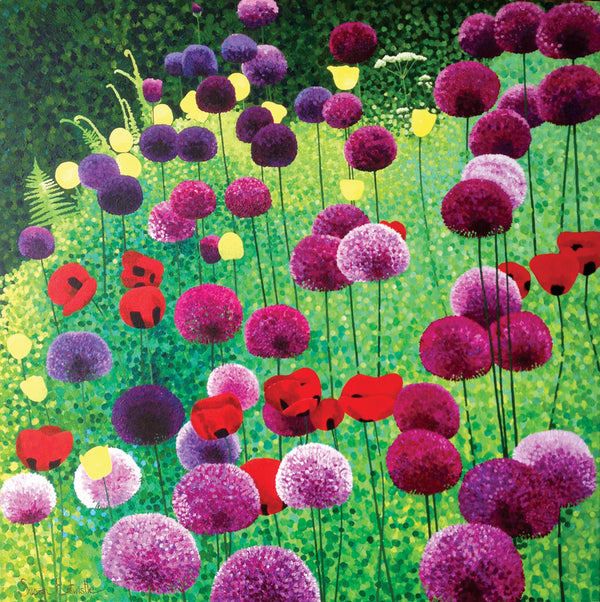 Alliums & Poppies card