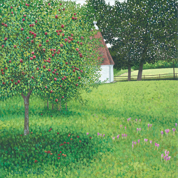Apple Tree & Meadow Saffron limited edition print