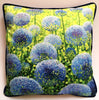 Azure Alliums Cushion