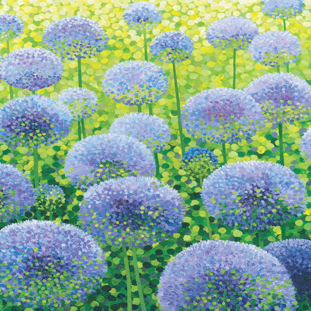 Azure Alliums card